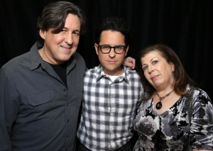 Cameron Crowe, J.J. Abrams and Winnie Holzman at the Showtime TCA Winter Press Tour 2016 Roadies Panel in Pasadena, CA on January 12th, 2016. Photo: Eric Charbonneau/AP Invision for SHOWTIME